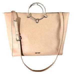 NINE WEST Beige Satchel Bag with Crossbody Strap
